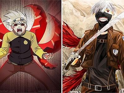 Khi Tokyo Ghoul giao lưu kết hợp với các bộ anime khác
