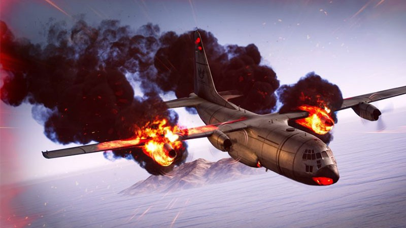 Máy bay trong PUBG có thể bốc cháy và đâm xuống đất