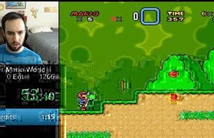 Trong vòng chưa đầy 1 phút, hãy nhìn cách mà game thủ này phá đảo Super Mario World