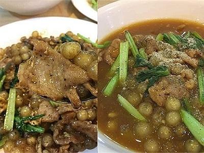 """Dân mạng shock trước mâm cơm dành cho """"con nghiện"""" trân châu: Trân châu chiên trứng, trân châu xào thịt và canh rau cải trân châu"""
