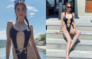 Bị chê gầy gò, Ngọc Trinh khoe body nóng bỏng trong bộ bikini không thể sexy hơn