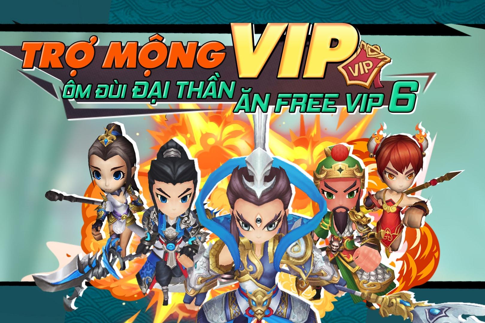 Kiếm Khách Ca Ca tặng Free VIP 6 vĩnh viễn cho game thủ khi Open Beta 09/07