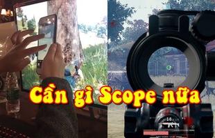 Cạn lời với game thủ PUBG sử dụng thủ thuật ngắm xa cực dị bằng iphone, cân tất cả các loại scope