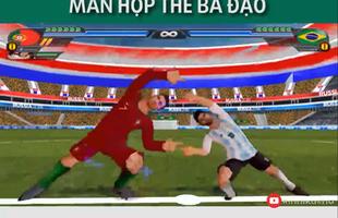 Sẽ ra sao nếu Ronaldo và Messi hợp thể thành một cầu thủ duy nhất và tung hoành trên sân cỏ?