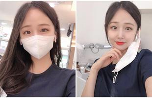"""Cởi khẩu trang, cô gái bất ngờ được phong là """"nha sĩ đẹp nhất Hàn Quốc"""", cộng đồng mạng khuyên nên bỏ nghề làm hot girl"""