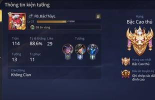 Liên Quân Mobile: Khỏi cần Keera hay tướng 25888 vàng, game thủ leo Rank đơn với Triệu Vân cũng đạt Cao Thủ