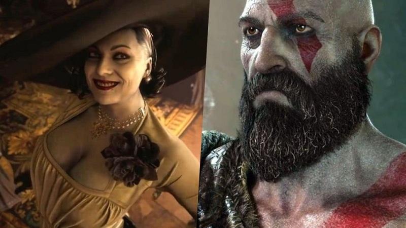 Xuất hiện bản mod cho Lady Dimitrescu đại chiến Thần Chiến Tranh Kratos