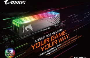 Gigabyte chính thức giới thiệu bộ RAM Aorus RGB đẹp ngất ngây cho game thủ