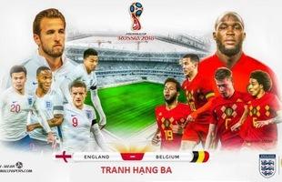Soi kèo hạng 3 World Cup Anh vs Bỉ: Ai sẽ ngẩng cao đầu đi về nước?