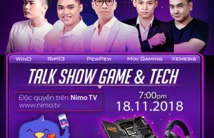Talkshow đặc biệt PUBG vs COD:BO4 của PewPew trên Nimo TV cùng Độ Mixi chính thức diễn ra vào ngày 18/11