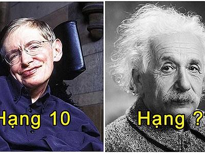 10 bộ óc siêu phàm có chỉ số IQ cao nhất thế giới: Stephen Hawking chỉ xếp bét bảng