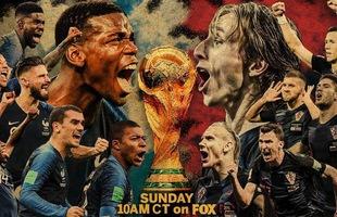 """Chung kết World Cup 2018 Pháp vs Croatia: Liệu có xuất hiện quân vương """"mới"""" của làng bóng đá thế giới"""