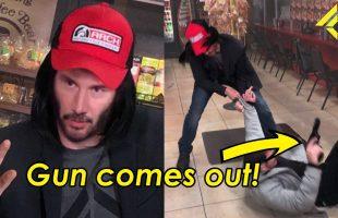 """Video Keanu Reeves """"xoáy đầu kẻ cướp 360 độ"""" lan truyền chóng mặt trên mạng xã hội"""