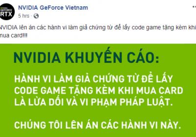 """Nhiều người Việt """"chơi bẩn"""" fake hóa đơn mua card đồ họa để nhận game miễn phí, khiến NVIDIA phải lên tiếng cảnh cáo"""