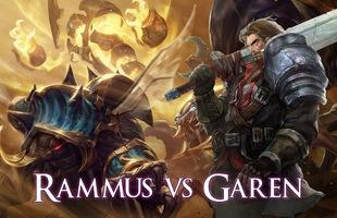 LMHT: Sau khi được chỉnh sửa kỹ năng, Garen giờ đây gặp Rammus thì cứ