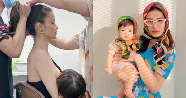 """Ông Cao Thắng """"bắt gọn"""" khoảnh khắc Đông Nhi chuẩn mẹ bỉm: Vừa làm việc vừa tranh thủ cho con bú!"""