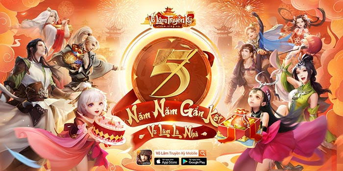 """Võ Lâm Truyền Kỳ Mobile: Mừng sinh nhật 5 tuổi """"mái nhà lớn"""" của 25triệu game thủ"""