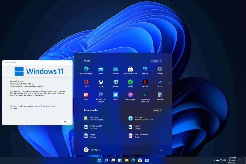 Windows 11 rò rỉ những hình ảnh đầu tiên
