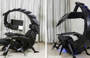 Xuất hiện dàn PC mang hình bò cạp cực ngầu, kết hợp luôn ghế mát-xa cho game thủ ngả lưng chinh chiến