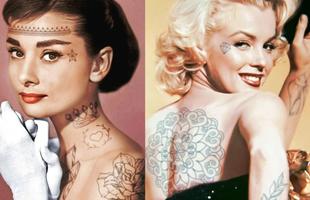"""Marilyn Monroe và loạt sao Hollywood """"biến đổi"""" thế nào khi có thêm nhưng hình xăm?"""