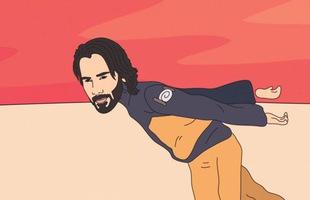 """Keanu Reeves thực hiện kiểu chạy """"Naruto run"""" đến khu vực 51 để xem người ngoài hành tinh"""