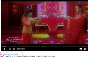 Video quảng cáo Thiện Nữ Mobile và MU Awaken VNG đứng đầu Tab Thịnh Hành Youtube Việt Nam
