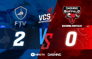 LMHT: Đến lượt Dashing Buffalo cũng theo trào lưu chấp 1 lượt cấm để rồi thất thủ trước đội bét bảng FTV