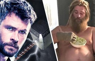 """Không giống Avengers: Endgame, phiên bản Thor """"bụng phệ"""" không hề xứng đáng nâng được búa thần Mjolnir"""