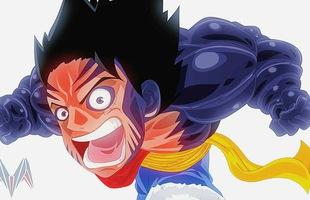 One Piece: Fanart Luffy thức tỉnh trái ác quỷ cao su đẹp không thua kém tác giả Oda