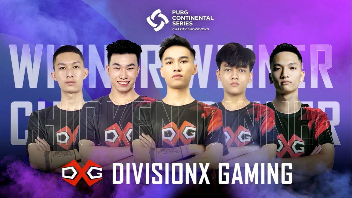 DivisionX Gaming lên ngôi vô địch giải PUBG PCS APAC CHARITY SHOWDOWN