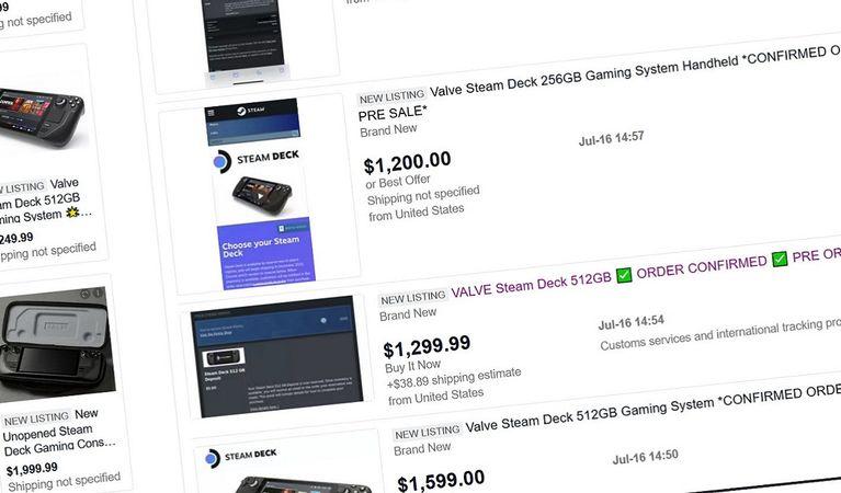 eBay xóa toàn bộ mặt hàng Steam Deck để ngăn chặn đầu cơ