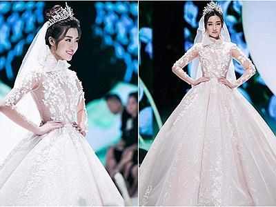 Đỗ Mỹ Linh bất ngờ lộ ảnh diện váy cưới cực lộng lẫy nhưng chưa biết chú rể là ai?