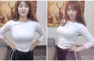 Cởi áo ngoài rồi nhảy tưng tưng khoe vòng một phản cảm trên sóng, nữ Youtuber khiến người xem tranh cãi kịch liệt