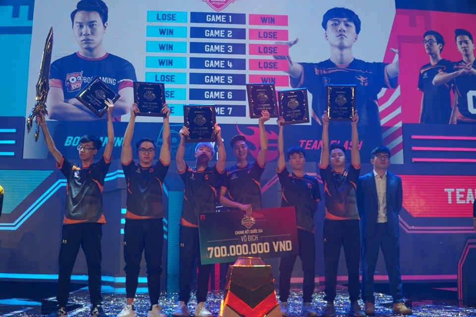 Vượt qua Box Gaming, Flash lên ngôi vô địch giải Liên Quân Mobile mùa Xuân 2019