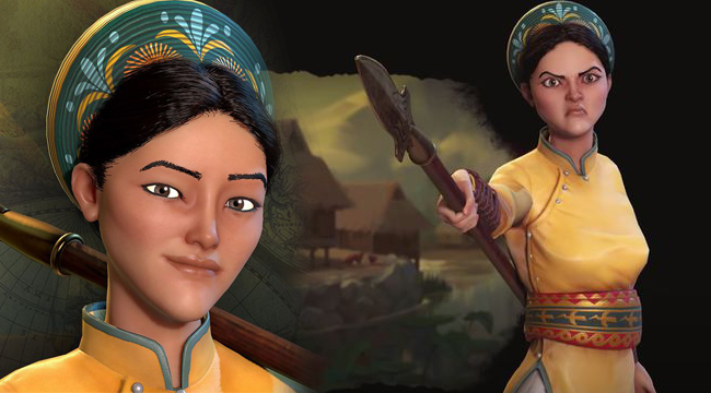Civilization VI  hé lộ tạo hình Bà Triệu với dung mạo đầy quyền lực